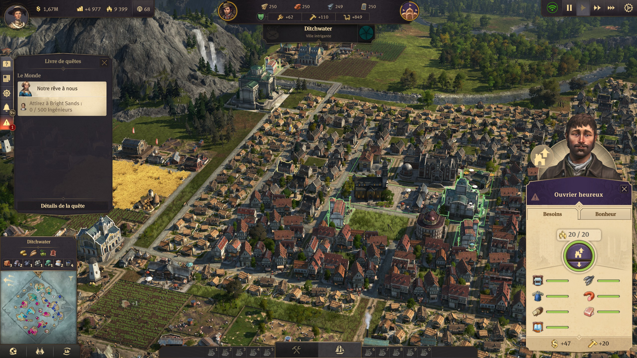 Anno 1800 : Population - Ouvrier