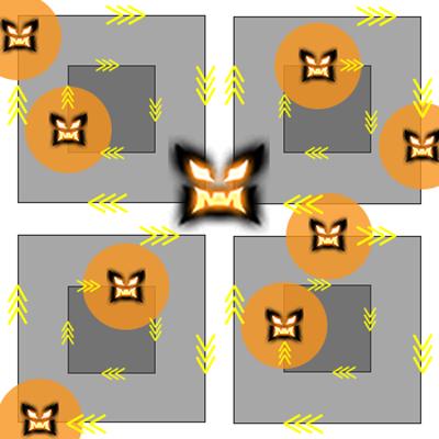 Réplique de l'usine désaffectée - Illustration : Formation de bombardement