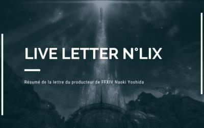 Résumé de la Live Letter n°59